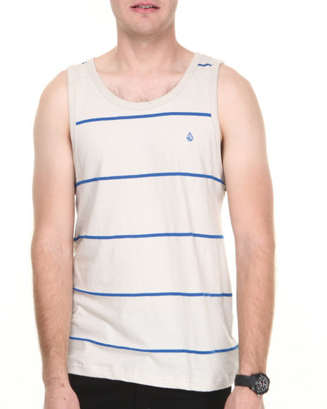 Volcom - Men Off White Tangle Tank