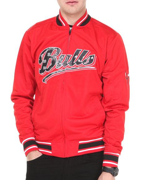 Nba, Mlb, Nfl Gear - Men Red Chicago Bulls Bandana Varsity Jacket
