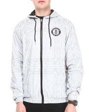 NBA, MLB, NFL Gear - Brooklyn Nets Breezy Bandana Zip Up Hoodie