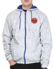NBA, MLB, NFL Gear - New York Knicks Breezy Bandana Zip Up Hoodie