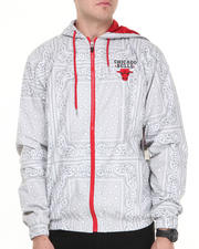 NBA, MLB, NFL Gear - Chicago Bulls Breezy Bandana Zip Up Hoodie