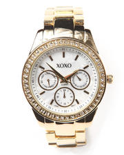 XOXO - Metal Boyfriend Pearlized Face Watch