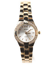 XOXO - Thin Metal Bling Face Watch