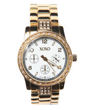 XOXO - Metal Bling Face Boyfriend Watch
