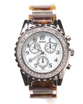 XOXO - Tort Metal Bling Face Watch