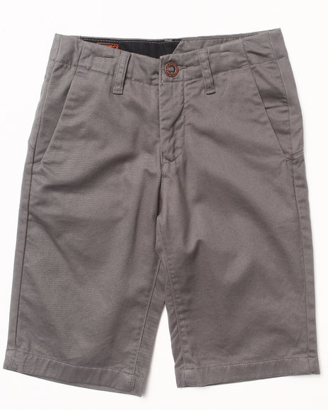 Volcom Boys Grey Faceted Shorts (8-20)