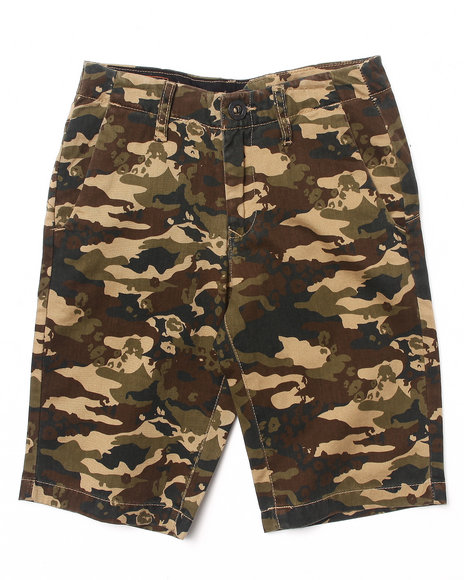 Volcom Boys Camo Faceted Shorts (8-20)