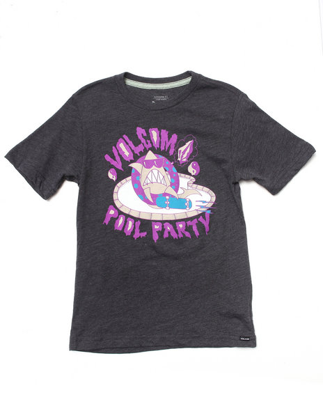 Volcom Boys Purple Pool Party Tee (8-20)