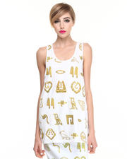 -FEATURES- - Giza Hieroglyph Tank Top