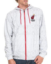 NBA, MLB, NFL Gear - Miami Heat Breezy Bandana Zip-Up Hoodie