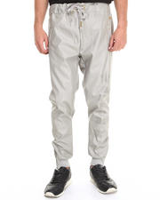 Men - Alive Drop Crotch Sweatpant w/ Vegan Leather Detail