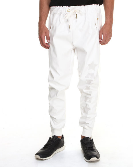 White Leather Pants Men