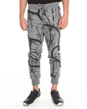 Well Established - Vessel Print Zipper Detail Sweatpant