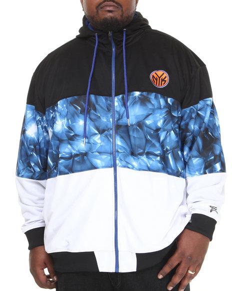 Nba, Mlb, Nfl Gear - Men Black,Multi New York Knicks Brilliant Zip Up Hoodie (B&T)