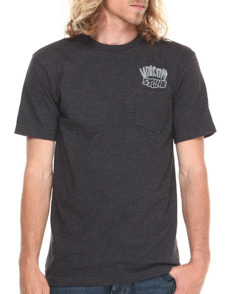 Volcom - Men Grey Slime Stone Pocket Tee