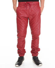 Jeans & Pants - Quilted faux leather Jogger