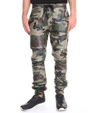 Pants - Quilted faux leather Jogger