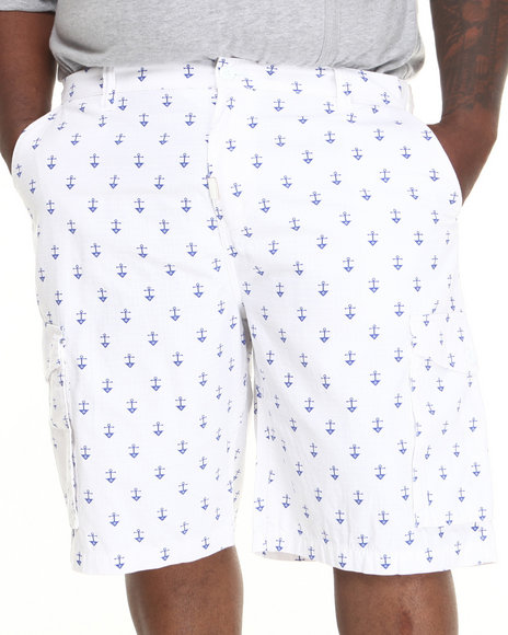 LRG - Men White Stay Anchored Classic Cargo Shorts (B & T)