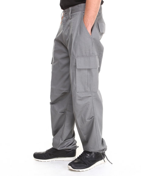 Basic Essentials - Men Grey Cargo Pants