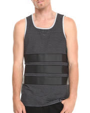 Tanks - Striped PU Tank