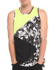 Men - Pieced Camo Tank