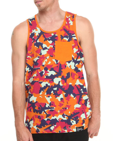 Flysociety Orange Tanks