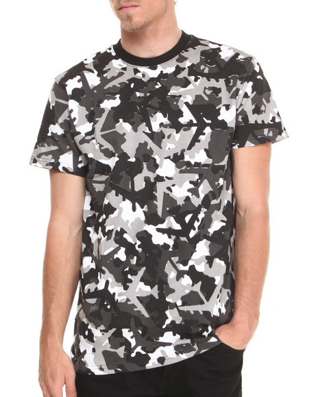 Flysociety - Men Camo Camo Planes T-Shirt