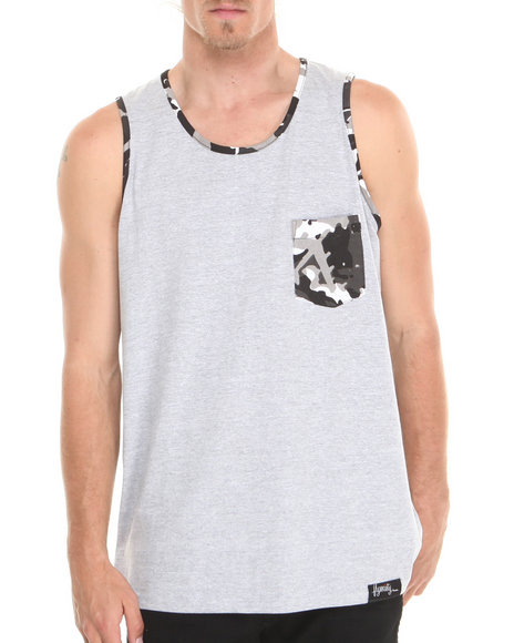 Flysociety Grey Tanks