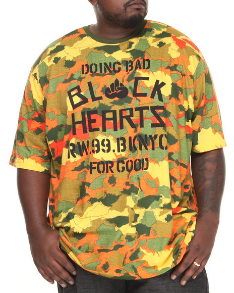 Rocawear Camo Gradient Camo Black Hearts Tee (Big & Tall)