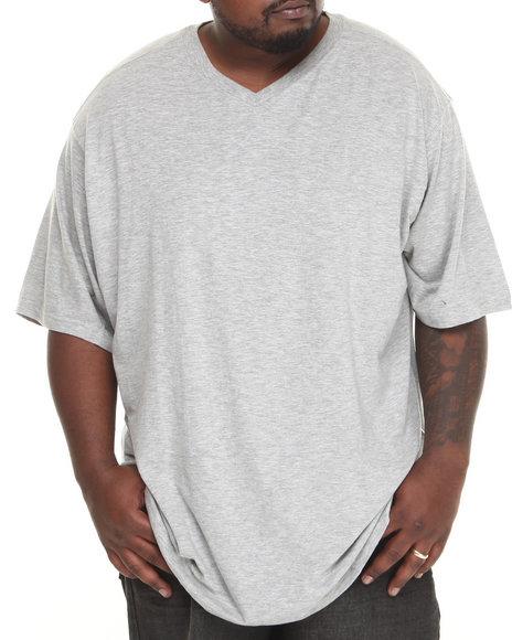 Rocawear - Men Grey Slub V-Neck Tee (B&T)