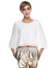 Line & Dot - Sunburst Pleat Top