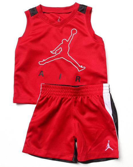 Air Jordan Boys Red Jumpy Air Tank Set (Infant)