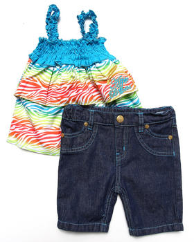 Apple Bottoms - 2 PC SET - TIERED TOP & JEANS (2T-4T)