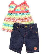 Apple Bottoms - 2 PC SET - ZEBRA CAMI & JEANS (2T-4T)