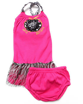 Apple Bottoms - PARTY DRESS W/ ZEBRA TUTU (NEWBORN)
