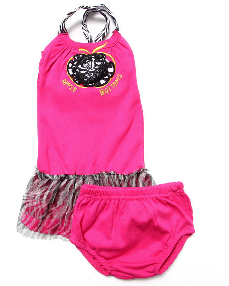 Apple Bottoms - Girls Pink Party Dress W/ Zebra Tutu (Newborn)