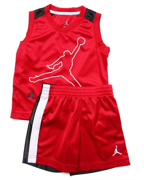 Air Jordan - Boys Red Jumpy Air Tank Set (2T-4T)