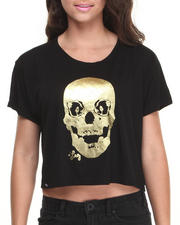 Women - SKULLKY Box Tee w/foil panda eyes