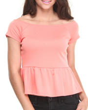 Baby Phat - Off the Shoulder Zip Back Peplum Top