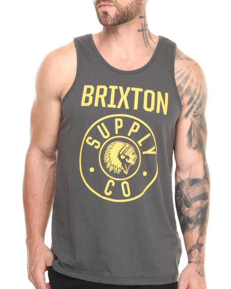 Brixton - Men Grey Totem Tank