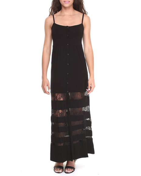Volcom - Women Black Dark Heart Dress