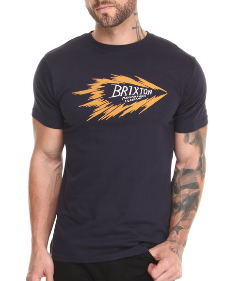 Brixton - Men Navy Shock Tee