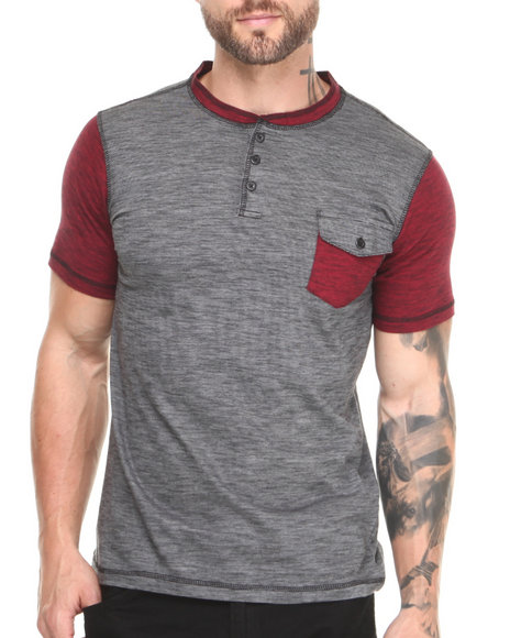 Buyers Picks - Men Grey Heming Henley Tee