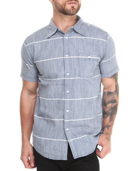 Buyers Picks - Men Blue Stamford S/S Button Down Shirt