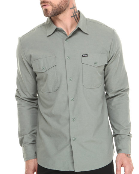 Brixton - Men Green Davis L/S Button-Down