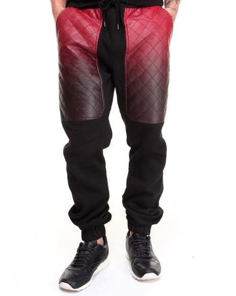 Kite Club - Men Black,Red Red Faded Armour Pant