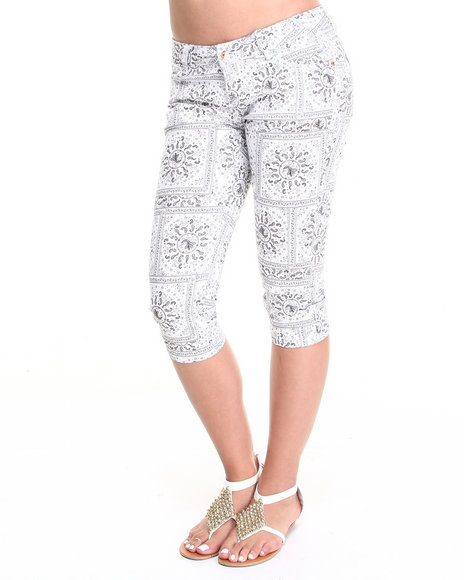 Fashion Lab Black,White Capris