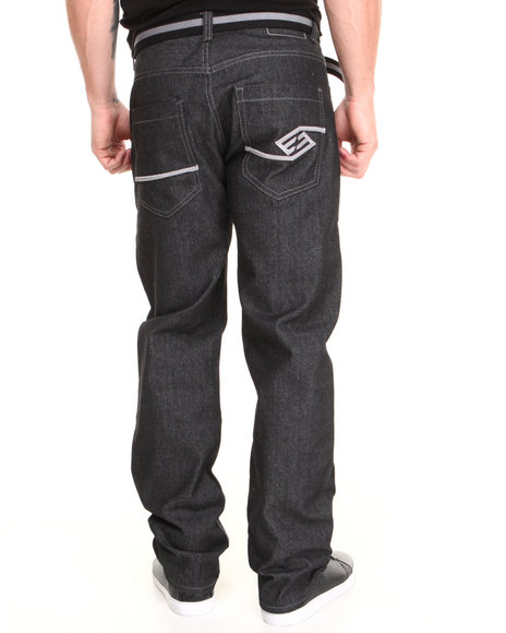 Enyce - Men Grey High Road Belted Denim Jean