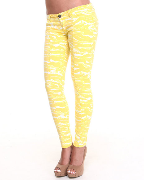 Lrg - Women Yellow Killzone Stretch Twill Pant