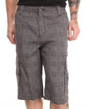 Men - Plaid Twill Cargo Shorts